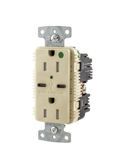 HWDK USB8200C5I RCPT HG DUP 15A 125