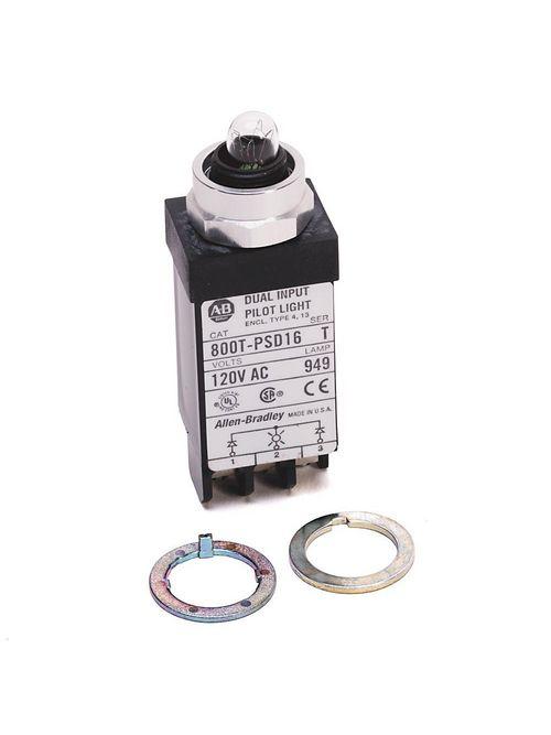 Allen-Bradley 800T-PSDH16G 18 mm Pilot Light Push Button
