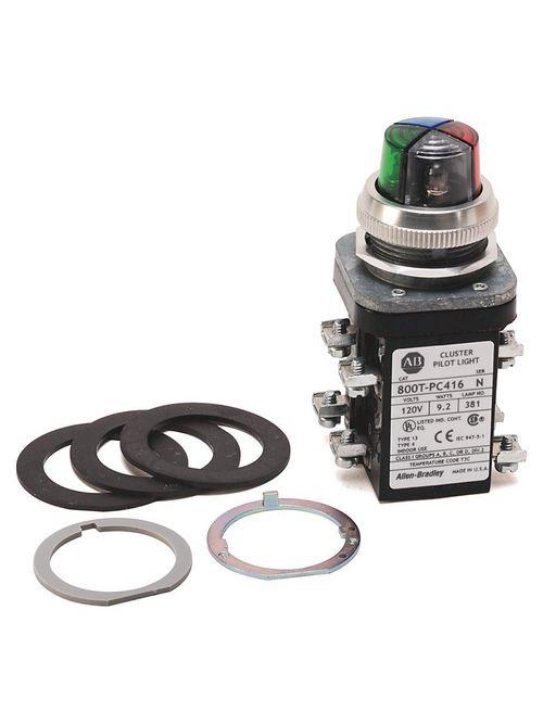 Allen-Bradley 800T-PCL316 30.5 mm 120 VAC Transformer 3 Unit Cluster LED Pilot Light