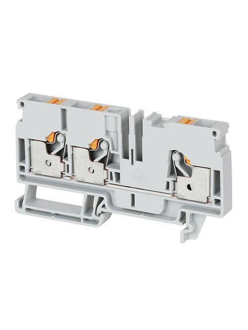 A-B 1492-P6T-B IEC Feed-Through Push-in Terminal Block