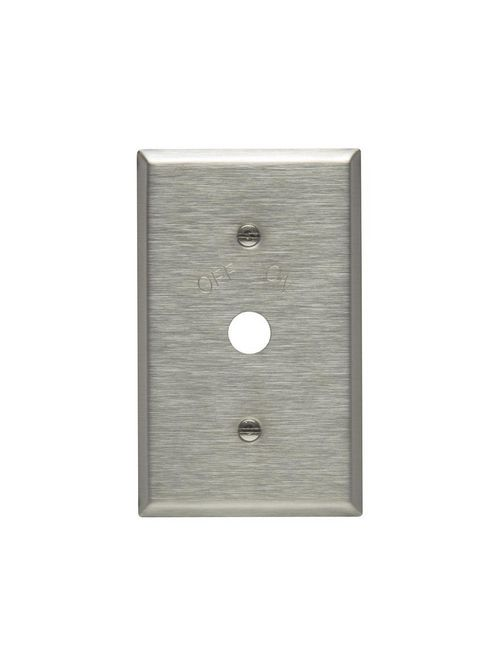 WALLPLATE FOR CORBIN SWTCH ON/OFF-IND SS