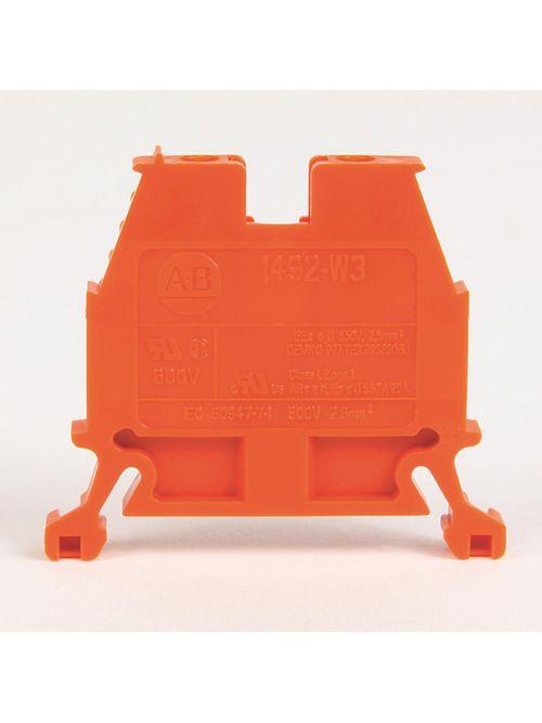 Allen Bradley 1492-W3-OR 8 x 47.6 x 41 mm Screw Connection IEC Terminal Block