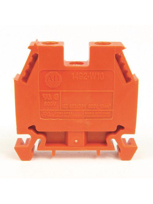 A-B 1492-W10-OR IEC Term Blck 8x47.