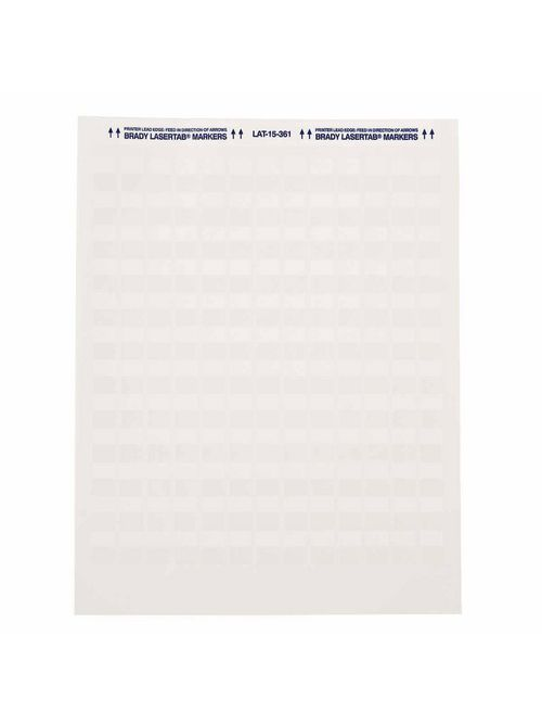 Brady LAT-15-361-1 0.5 x 0.75 Inch White/Translucent Polyester Laser Printable Label