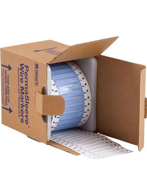 Brady PS-125-2-WT-S 0.11 x 2 x 0.235 Inch White Polyolefin Wire Marking Sleeve