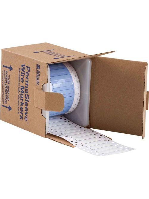 Brady PS-187-2-WT-S 0.15 x 2 x 0.335 Inch White Polyolefin Wire Marking Sleeve