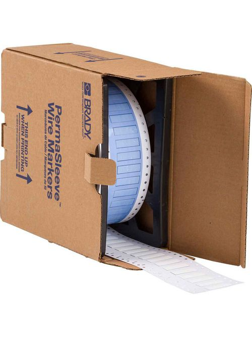 Brady PS-250-150-WT 0.215 x 1.5 x 0.439 Inch White Polyolefin Wire Marking Sleeve