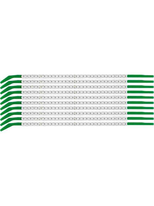 BRADY SCN09-1 Wire Mkr,ClipSlv,1,SC