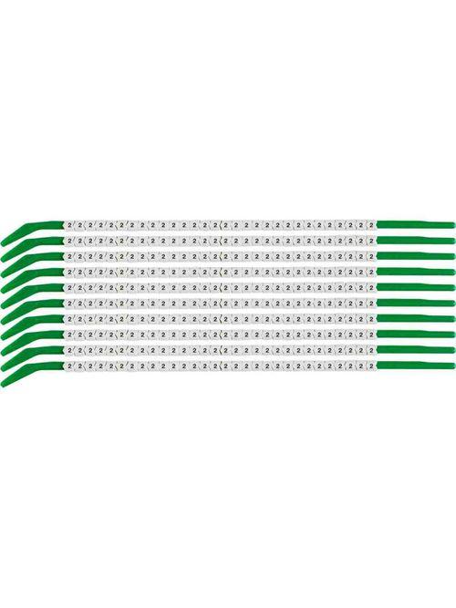 BRADY SCN09-2 Wire Mkr,ClipSlv,2,SC