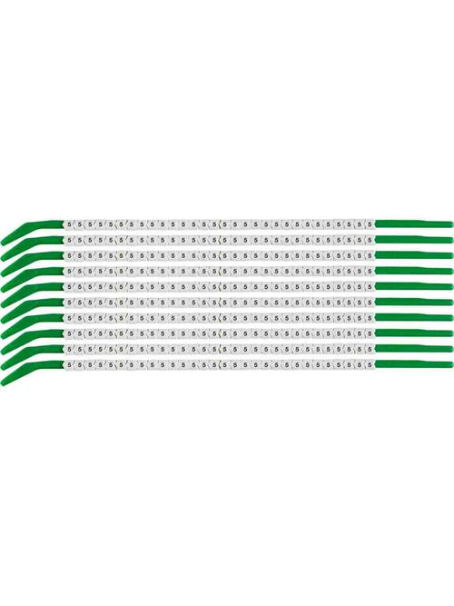 BRADY SCN09-5 Wire Mkr,ClipSlv,5,SC