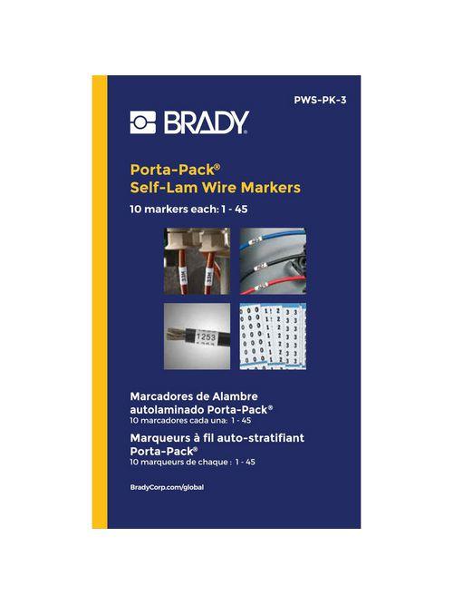BRADY PWS-PK-3 Wire Mkr,0.217x1.562