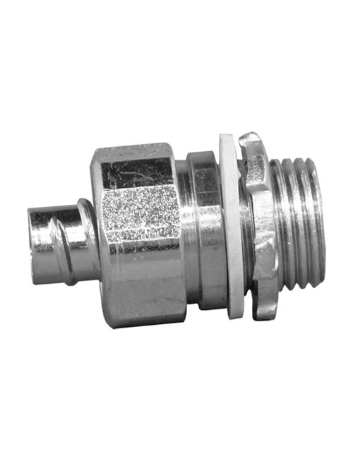 Appleton Group 4QS-50T 1/2 Inch Zinc Plated Steel Straight Insulated Throat Liquidtight Connector