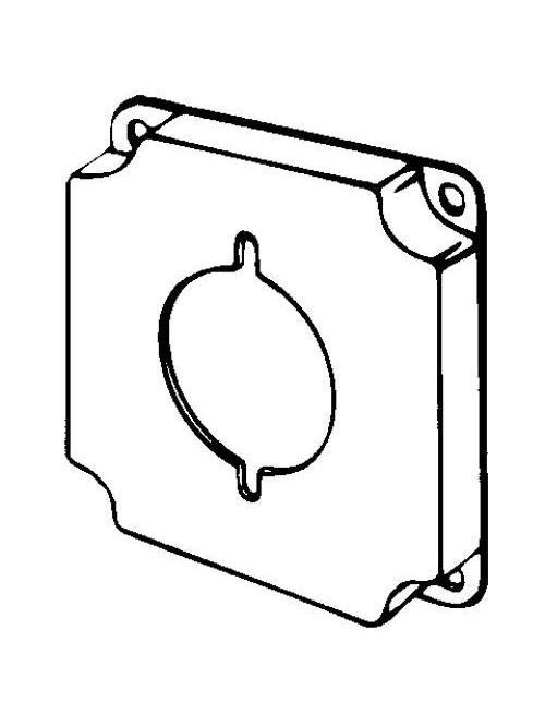 Appleton Group 8377 1/2 Inch Raised 7 In Steel Square Box Cover