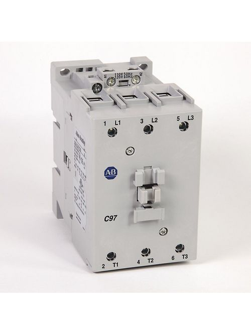 Allen Bradley 100-C97D00 110/120 VAC 97 Amp 75 Hp 3-Phase 3-Pole IEC Contactor