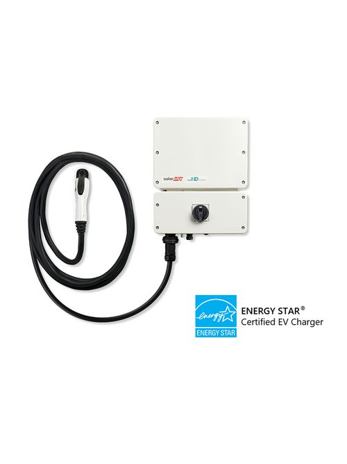 SolarEdge SE7600H-US000BNV4 EV Charging Single Phase Inverter with HD-Wave Technology, 7.6kW, Inverter with SetApp configuration