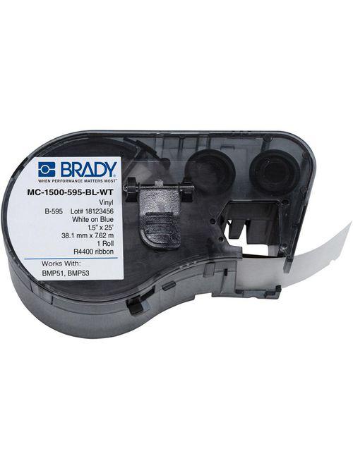 BRADY MC-1500-595-BL-WT Lbl,M Serie