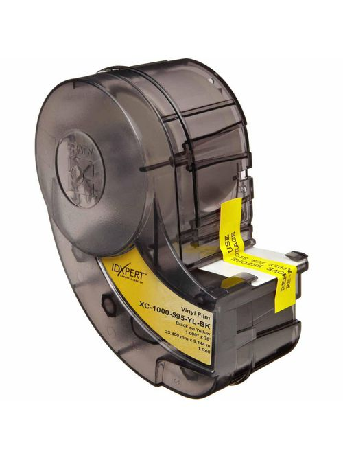 Brady XC-1000-595-YL-BK 30 Foot Roll Xpert 1 Inch x 30 Foot Black On Yellow Outdoor Vinyl