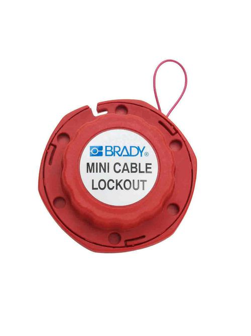 Brady 50940 Mini Cable Lockout with Metal Cable