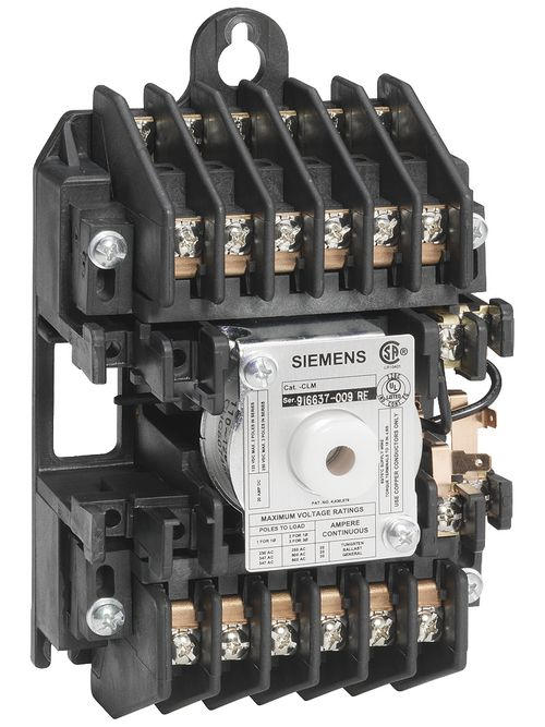 Siemens Industry CLM122031 110/120 VAC 20 Amp 12-Pole 12NO Open Mechanically Held Lighting Contactor