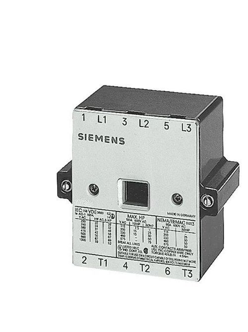 Siemens Industry 3TY7520-0A 9-Piece Main Contactor Kit