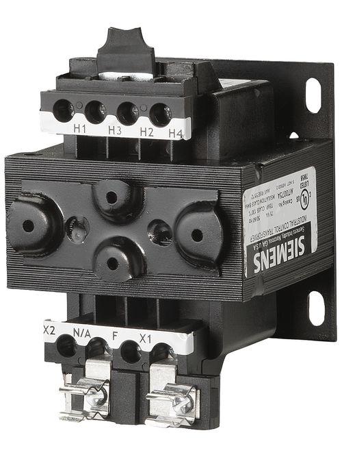Siemens Industry MT0075A 75 VA 240 x 480 VAC Primary 110/115/120 VAC Secondary Industrial Control Transformer