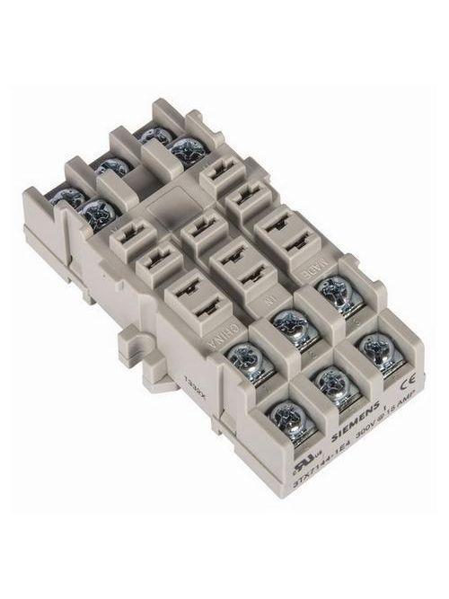 Siemens Industry 3TX7144-1E4 240 VAC 11-Pin Din Rail Mount Screw Terminal Plug-In Relay Socket