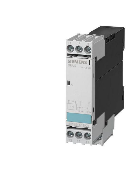 Siemens Industry 3UG4513-1BR20 160 to 690 VAC 450 ms 2CO 3-Pole Voltage Monitoring Relay