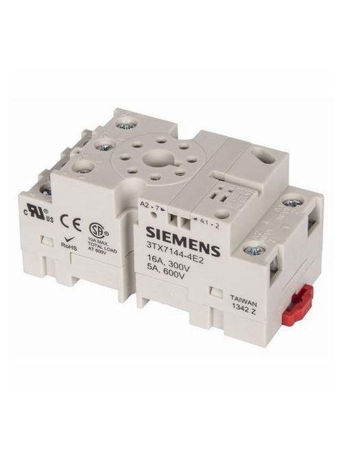 Siemens Industry 3TX7144-4E2 240 VAC 8-Pin Screw Terminal Plug-In Relay Socket