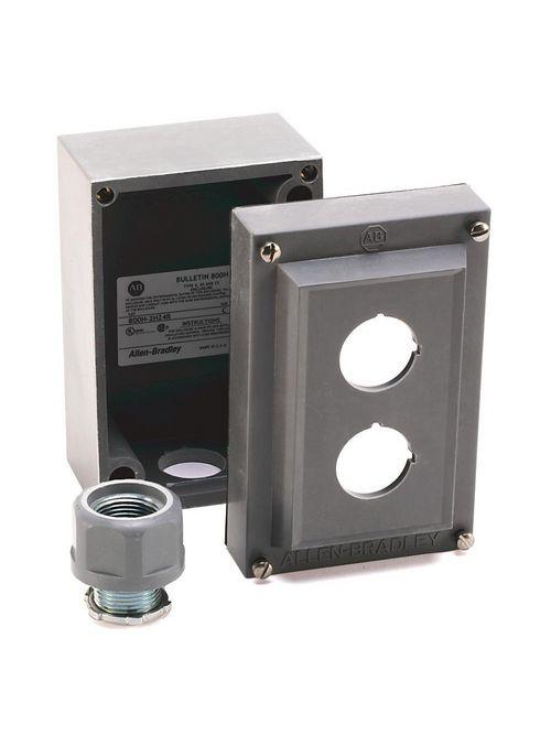 Allen-Bradley 800H-1HZ4R 30 mm Rosite Single Push Button Enclosure