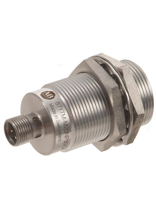 Allen-Bradley 871TM-M20CP30-D4 3-Wire DC Extended Shielded Stainless Steel Proximity Sensor