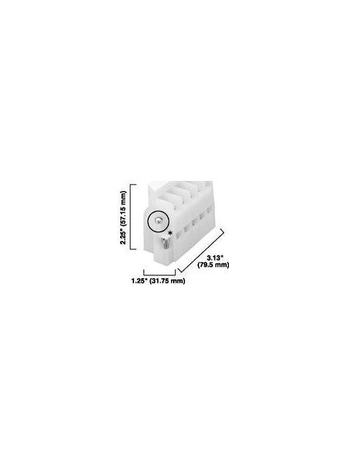 Allen-Bradley 1492-EC85 5-Pole 25 Amp 600 Volt Pull-Apart Panel Mounted Terminal Block