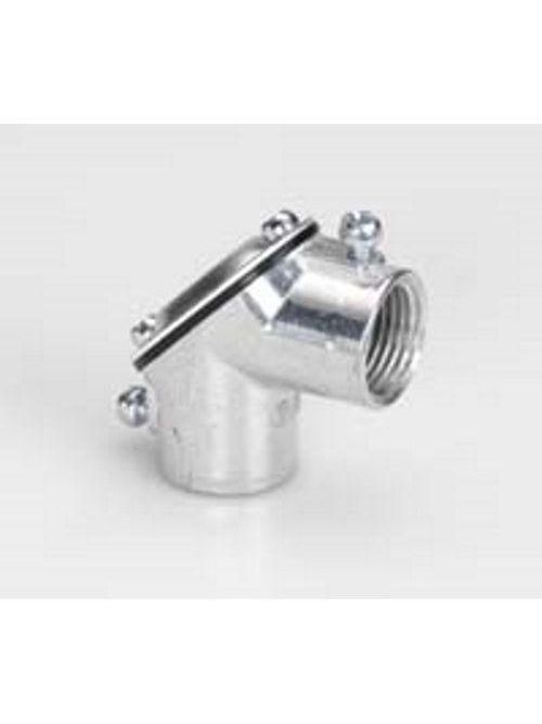 "Bridgeport 81-DCA 1/2"" Rigid or EMT Set Screw Coupling Pull Elbows, Aluminum"