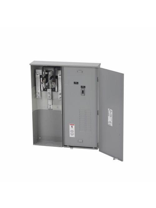 B-Line Series U404430MCC 34 x 6 x 47 Inch 120/240 Volt 400 Amp Gray Meter Main Load Center