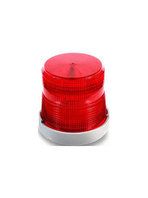 Edwards Signaling 48SINR-N5-25WH 120 VAC 0.2 Amp Red Polycarbonate Steady-On Halogen Beacon
