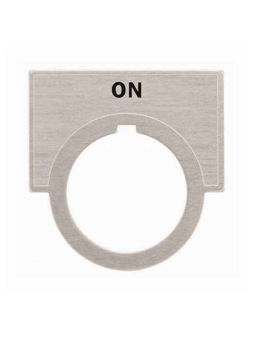 Siemens Industry 52NL11 2 x 1-7/16 Inch On Brushed Aluminum Large Push Button Legend Plate