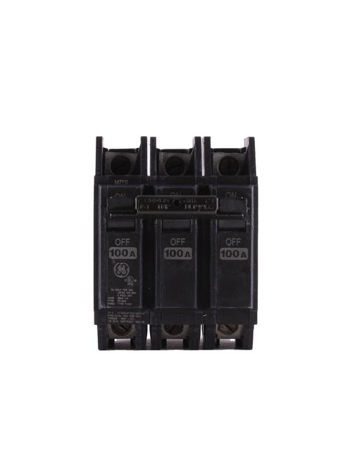 GE Industrial Solutions THQC32100WL 240 Volt 100 Amp 10 kaic 3-Pole Circuit Breaker with Lugs