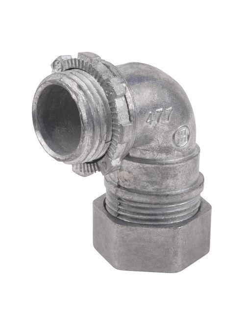 Steel City TC911-SC 1/2 Inch 90 Degree EMT Die-Cast Compression Connector