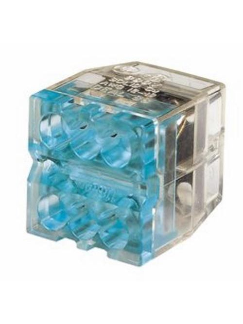 Ideal Industries 30-188 20 to 12 AWG Solid and 16 to 14 AWG Stranded 600 Volt Blue Push-In Wire Connector