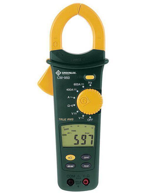 Greenlee CM-950 600 VAC/VDC 600 Amp 4000-Count LCD Digital AC Clamp-On Meter
