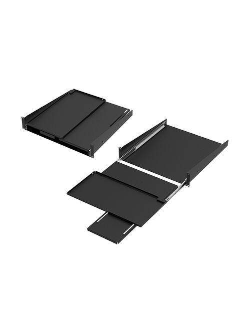 Hoffman P19KBPVT 3.5 x 18.89 x 19.25 Inch Steel 2-Unit Pivoting Keyboard Shelf