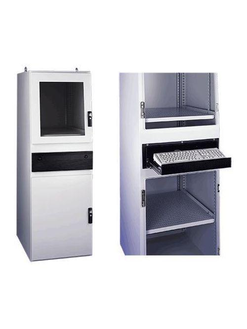 Hoffman PGLD1486CWS 60.08 x 31.81 x 21.34 Inch Light Gray 14 Gauge Steel NEMA 12 Computer Workstation Enclosure