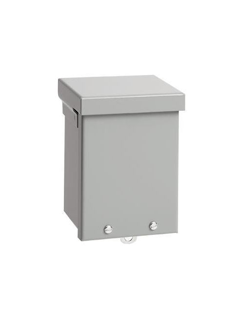 Hoffman A15R128NK 15 x 12 x 8 Inch Galvanized Steel NEMA 3R Screw Cover Enclosure without Knockouts