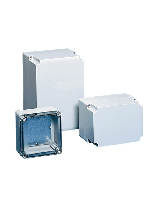 Hoffman Q181810PCE 6.63 x 6.63 x 3.64 Inch Light Gray Polycarbonate NEMA 4X Enclosure