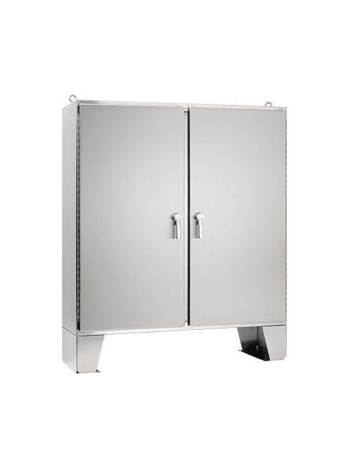 Hoffman A74H7212SS6LP3PT 74.06 x 72.06 x 12.06 Inch 12 Gauge 316L Stainless Steel NEMA 4X 2-Door Floor Mount Enclosure