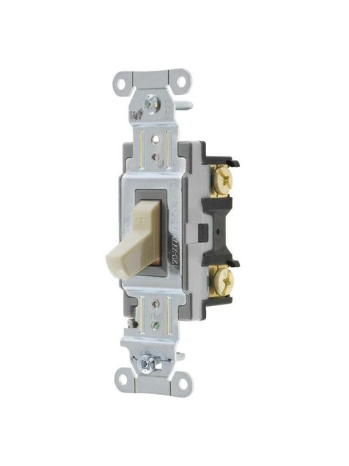 Hubbell Wiring Devices CSB115I 15 Amp 120/277 VAC 1-Pole Ivory Toggle Switch