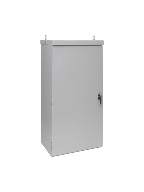 Hoffman A60R5224FSLP 60 x 52 x 24 Inch Steel Pad Mount Two Door Enclosure