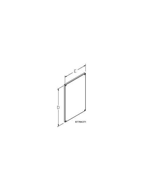 Hoffman PPP812G 44.49 x 32.87 Inch Galvanized 12 Gauge Steel Enclosure Partial Subpanel