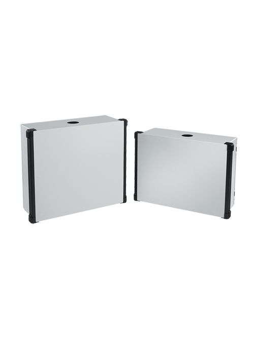 Hoffman CP455518 450 x 550 x 180 mm Painted 14 Gauge Steel NEMA 4 HMI Enclosure System with Black Extrusion