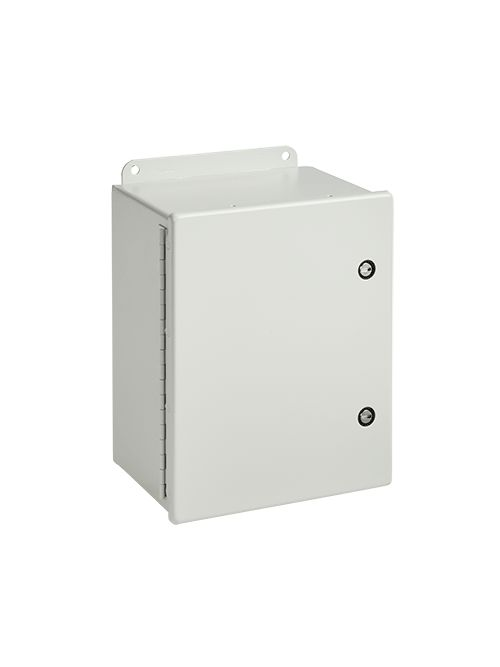Hoffman A10086CHFL 10 x 8 x 6 Inch Gray 14 Gauge Steel NEMA 4 Junction Box with Fast Latch