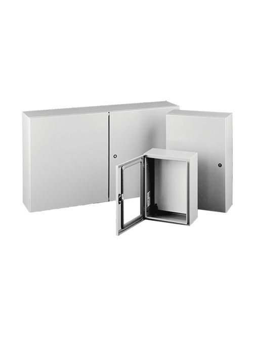 Hoffman CSD603612LG 60 x 36 x 12 Inch Light Gray 14 Gauge Steel NEMA 4/12 1-Door Wall Mount Enclosure
